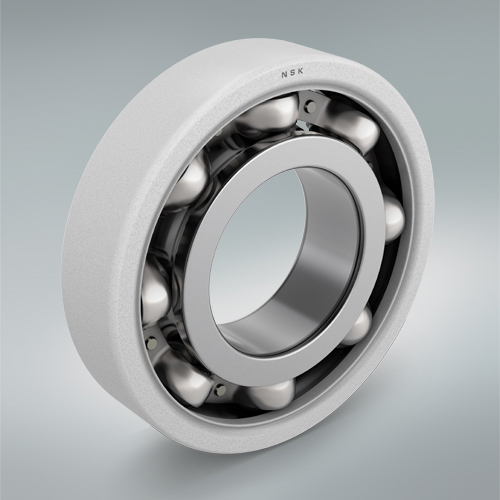 Ceramic coated insulating bearing